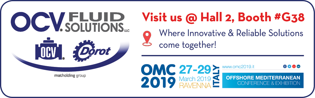 Visit us at Hall 2, Booth G38, OMC 2019 27-29 March 2019 Ravenna Italy